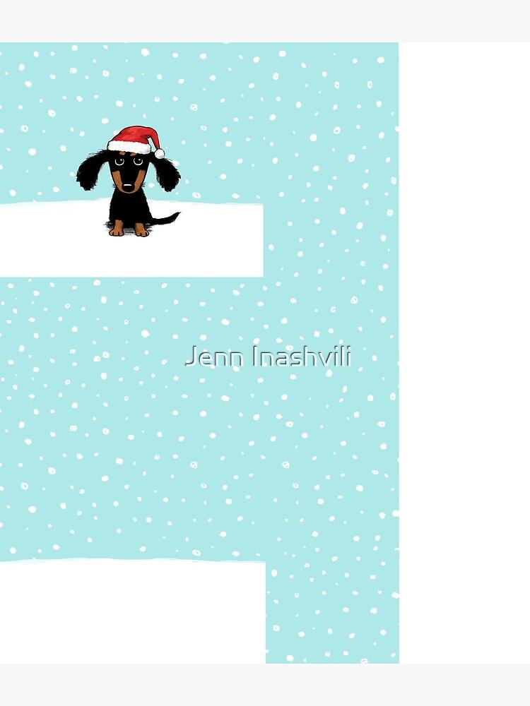 Cute Dachshund Christmas | Winter Wiener Dog Santa by ShortCoffee