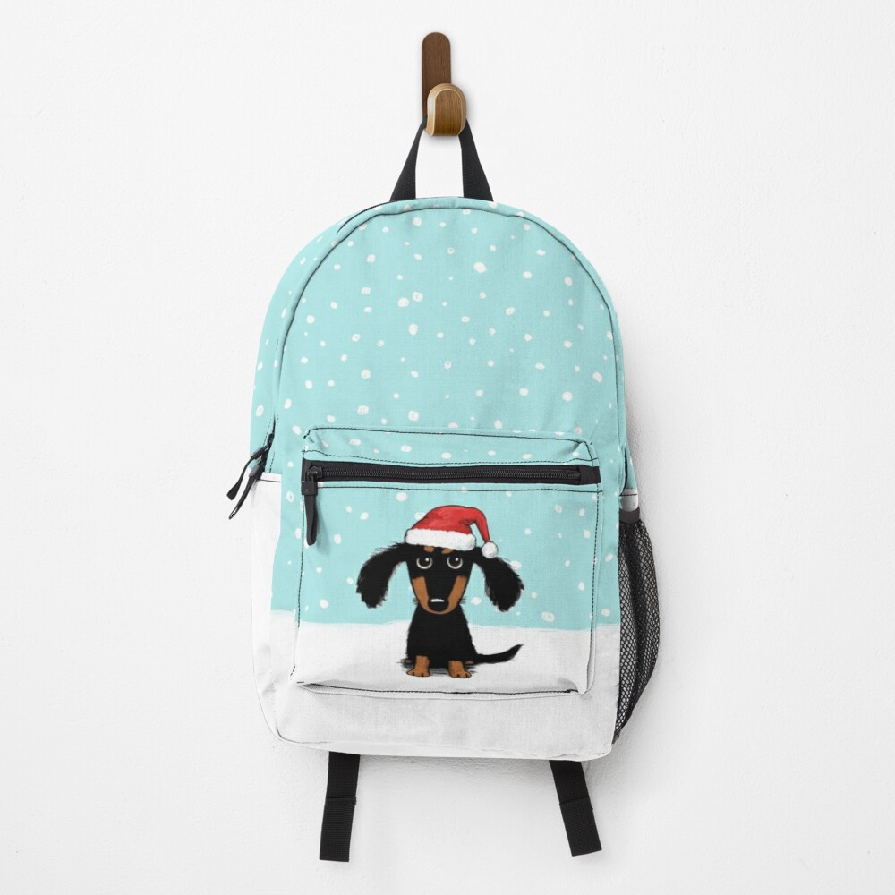 Cute Dachshund Christmas | Winter Wiener Dog Santa Backpack