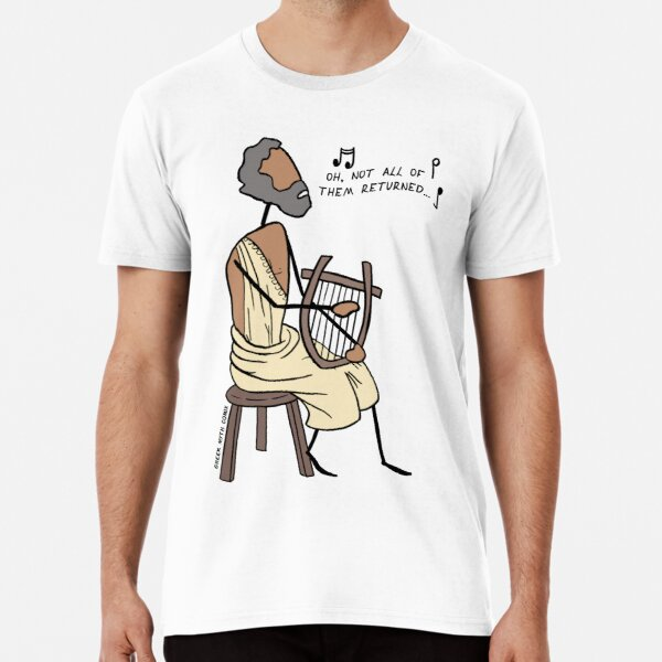 Greek Myth Comix - Demodocus the Bard Premium T-Shirt