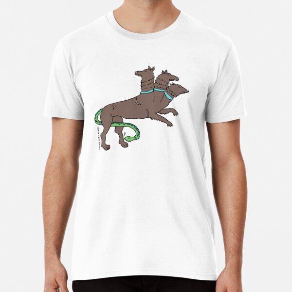 Greek Myth Comix - Cerberus, Hound of COLOURS! Premium T-Shirt