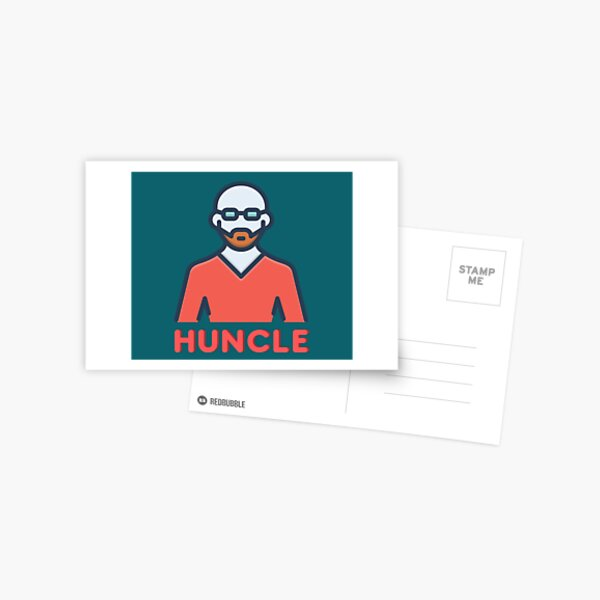 Huncle Gift Idea For Handsome Hunky Uncle Good Looking Postcard