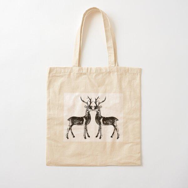 reindeers  Cotton Tote Bag