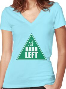 NSW GREENS HARD LEFT FACTION Women's Fitted V-Neck T-Shirt