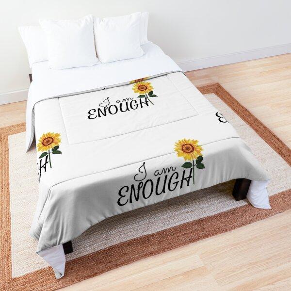 I am enough Sunflower Affirmation  Comforter