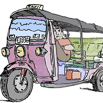Tuk Tuk Auto Rickshaw by rooosterboy