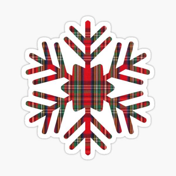 Christmas Plaid Snowflake Sticker