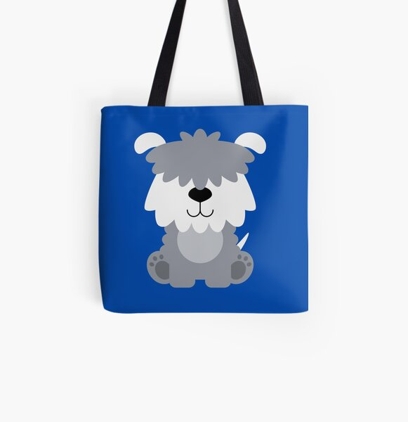 OLD ENGLISH SHEEPDOG TOTE BAG FULL COLOUR PRINT ON BOTH SIDES VERY ATTRACTIVE
