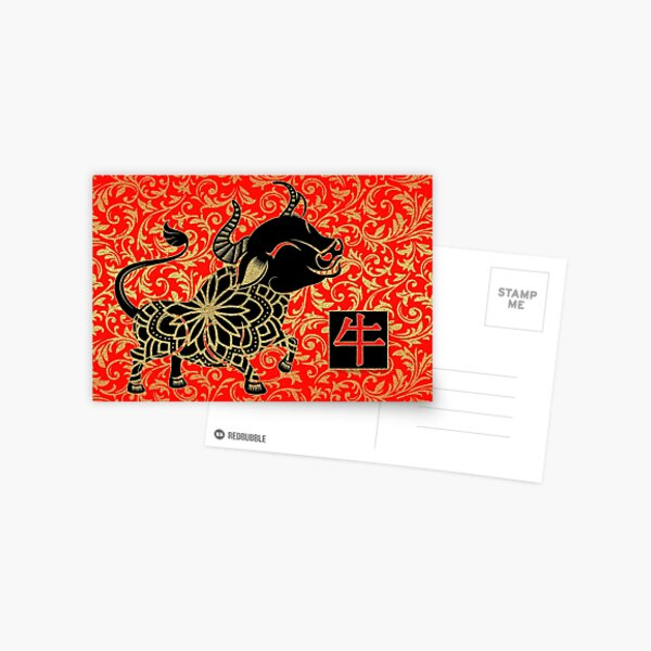 Year of the Ox Chinese New Year Postcard