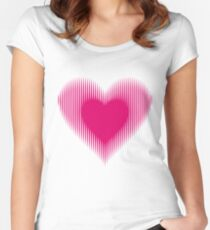 My Heart Beats For You Women's Fitted Scoop T-Shirt