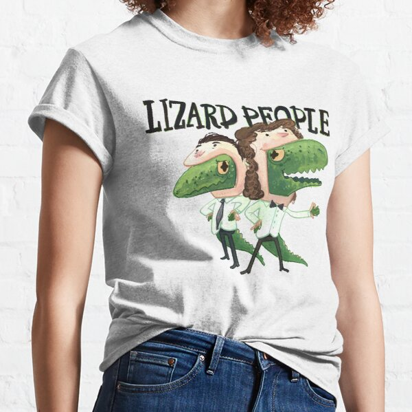 Lizard People Logo Shirt - White Classic T-Shirt