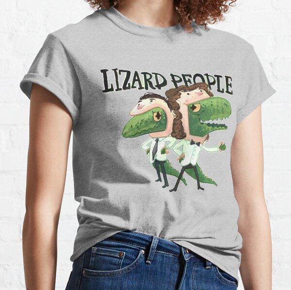 Lizard People Logo Shirt - Gray Classic T-Shirt
