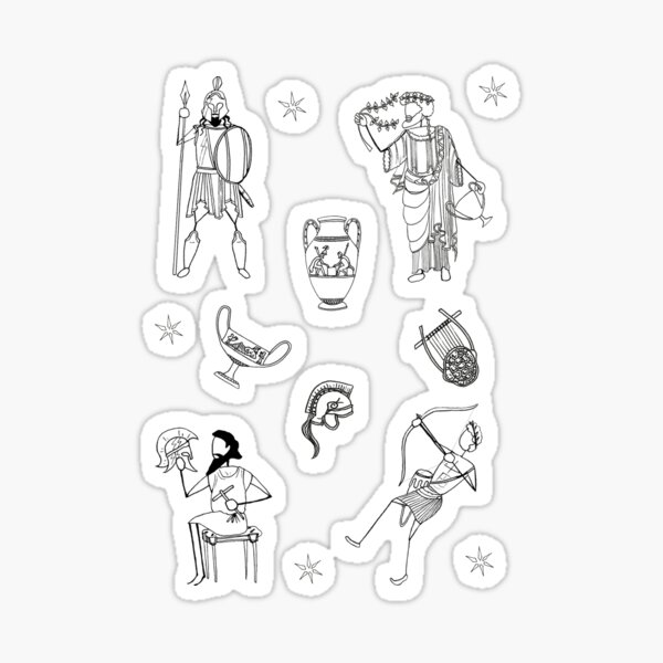 Greek Myth Comix - The Gods Sticker Pack 3 Sticker