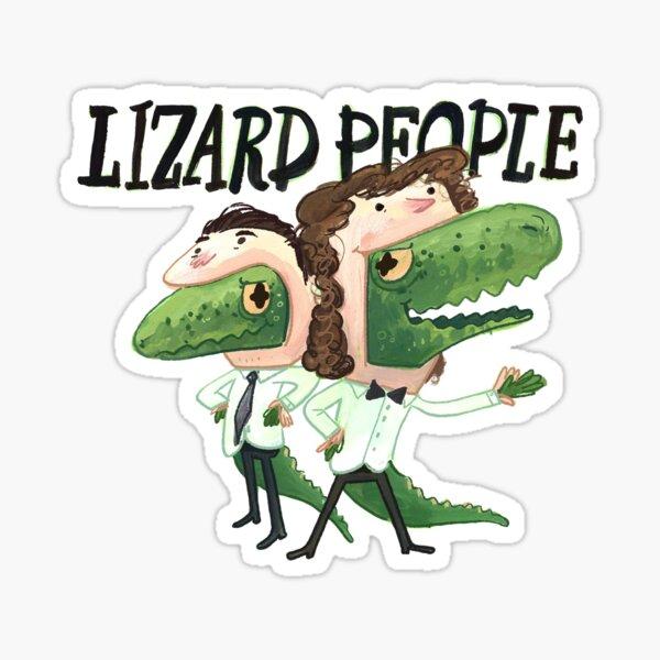 Lizard People Logo Sticker Sticker