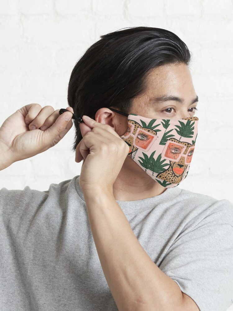 Alternate view of Tropical Glam Cat Mask