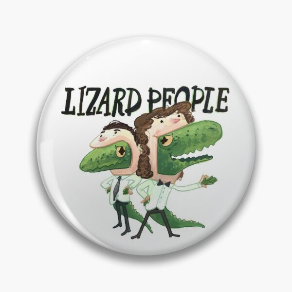 Lizard People Logo Pin Pin