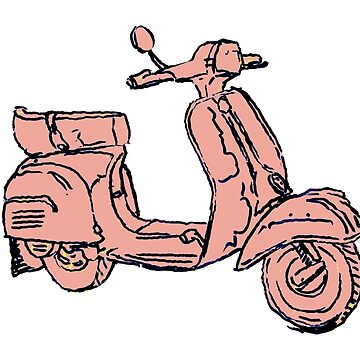 Pink Vespa Scooter by rooosterboy