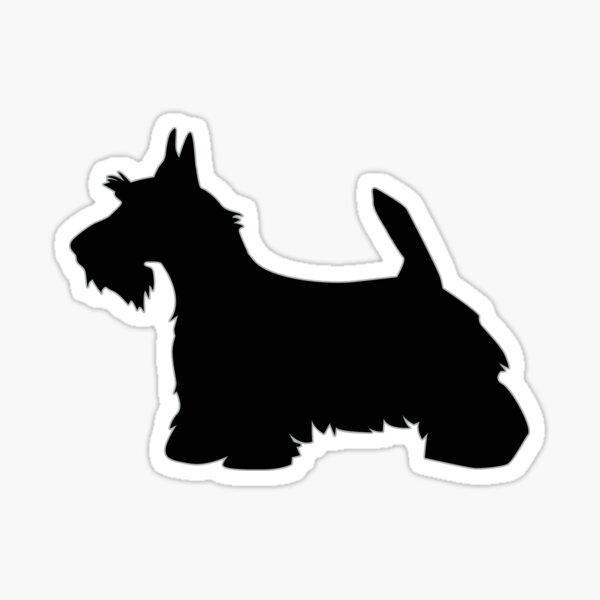 Scottie Terrier Dog Breed Silhouette Sticker