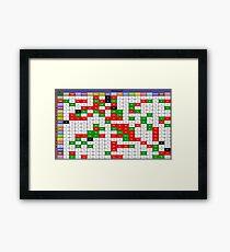 Pokemon Type Chart Framed Print