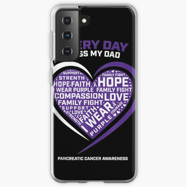 Purple-Gifts-In-Memory-Of-My-Dad-Pancreatic-Cancer-Awareness-Tank-Top Samsung Galaxy Soft Case