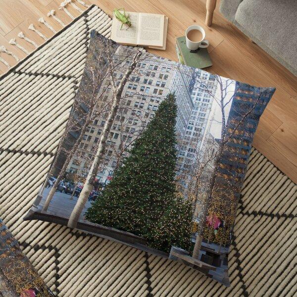 New York Christmas Floor Pillow