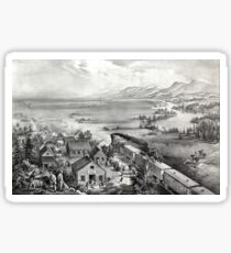 Across the continent, Westward the course of empire takes its way - 1868 Sticker
