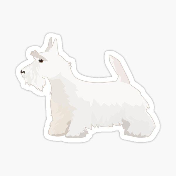 Wheaten Scottie Terrier Dog Breed Silhouette Sticker