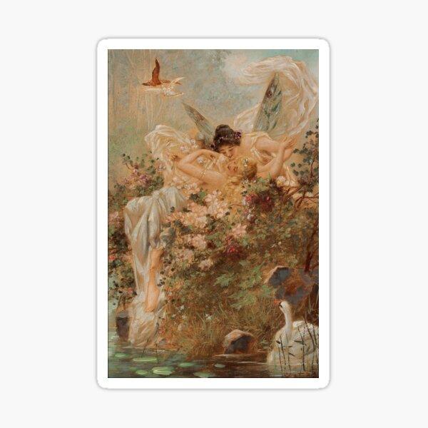 sapphic renaissance painting Sticker