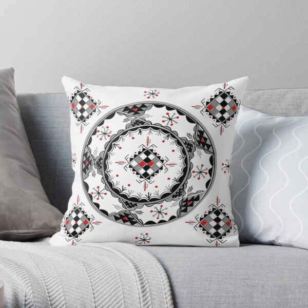 Motifs poteries kabyle  Coussin