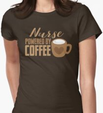 NURSE powered by coffee Womens Fitted T-Shirt