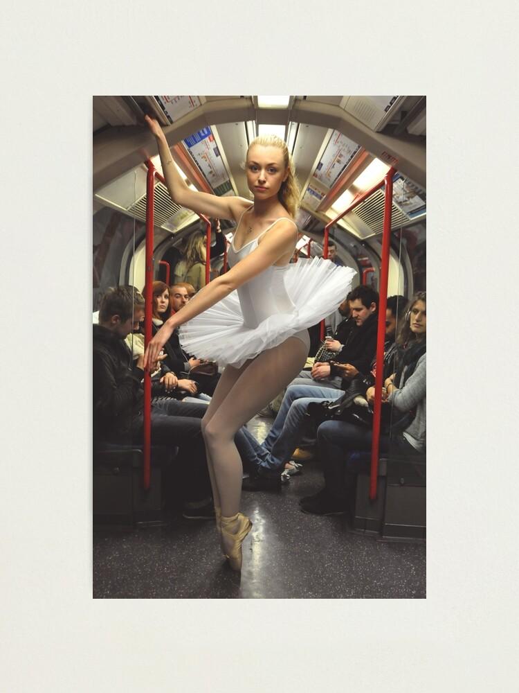 Alternate view of 10. Street Ballerina - Central Line, London Photographic Print