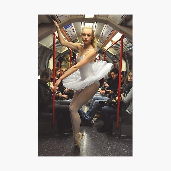 10. Street Ballerina - Central Line, London Photographic Print