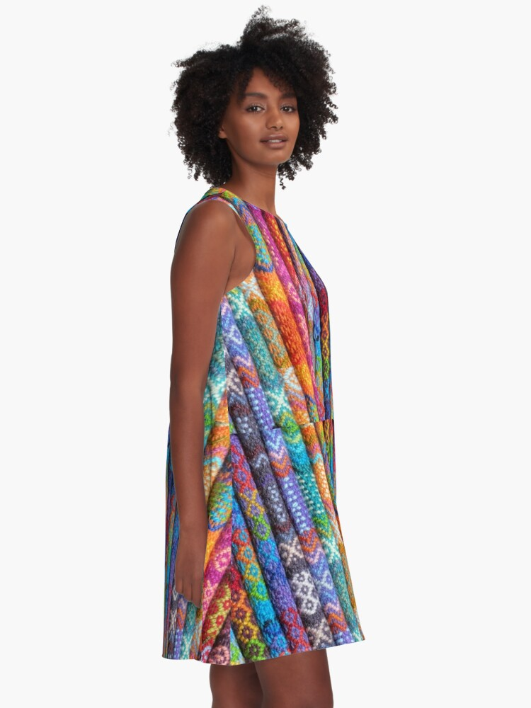 Alternate view of Wool In Color A-Line Dress