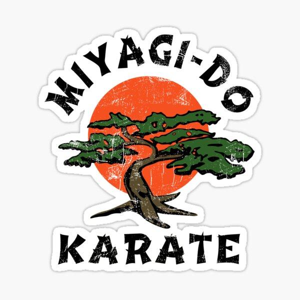 Miyagi-Do Vintage Look - Gráficos profesionales Pegatina