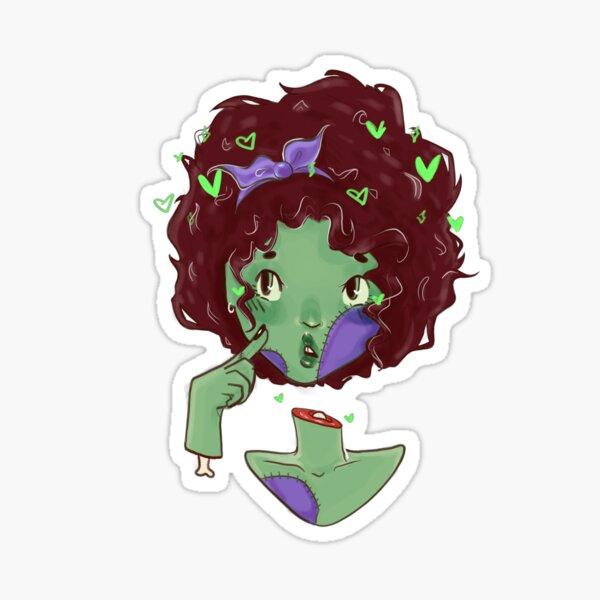Zombie Babe Purple Sticker