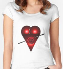 21st Century Love Heart  Women's Fitted Scoop T-Shirt
