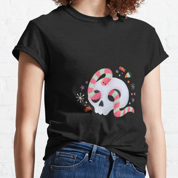 Skull and the candy colored Snake Classic T-Shirt