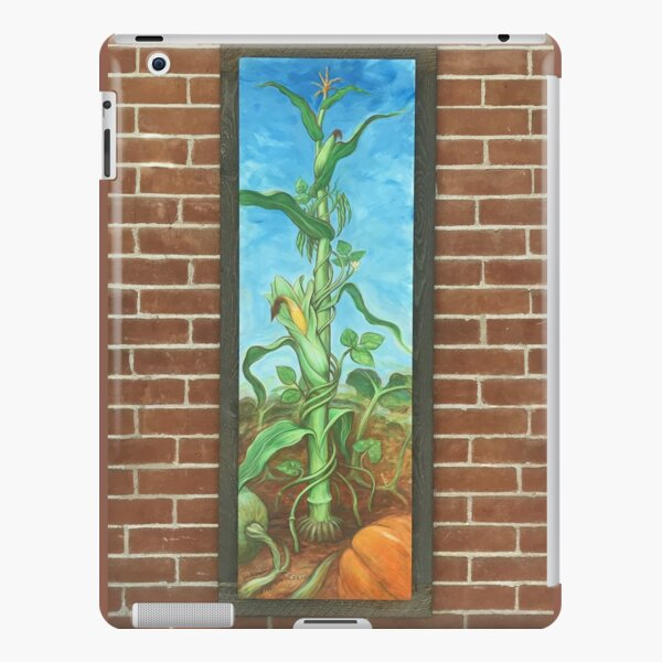 Three Sisters: Corn Beans Squash on Brick Wall iPad Snap Case