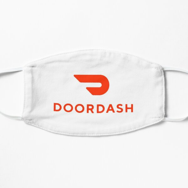 Door Dash Delivery Driver Classic Logo Box DoorDash Dasher Unofficial Uniform Flat Mask
