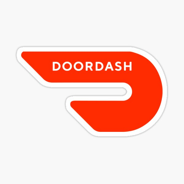 Door Dash Delivery Driver Classic Logo Box DoorDash Dasher Unofficial Uniform Sticker