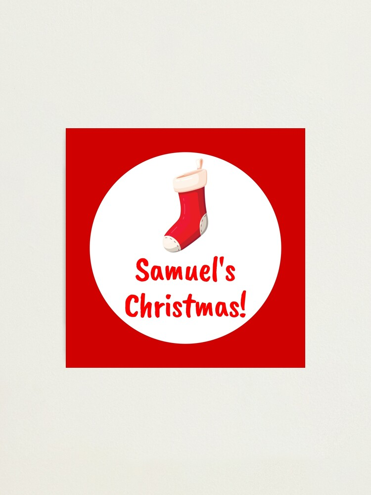 Alternate view of Samuel's Christmas Photographic Print