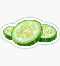 Cucumber slices Sticker