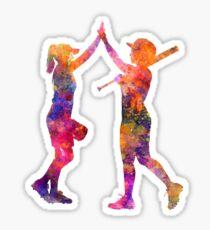 women playing softball 01 Sticker