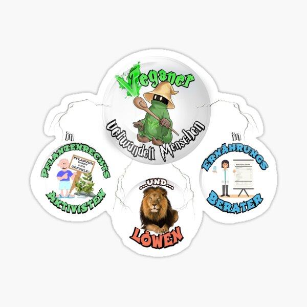 Veganer Magier Sticker