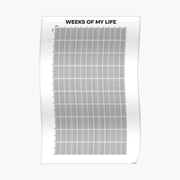 my life in weeks poster Poster