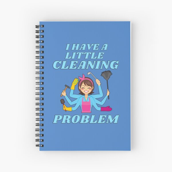 Little Cleaning Problem Busy Mom Housework Fun Spiral Notebook