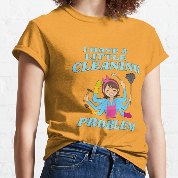 Little Cleaning Problem Busy Mom Housework Fun Classic T-Shirt