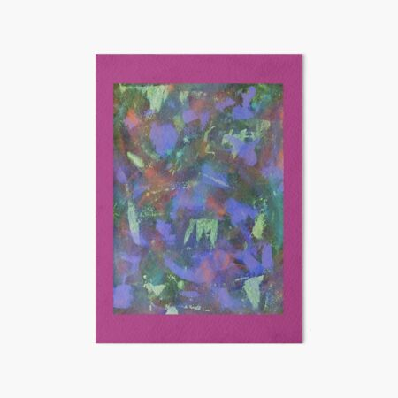 Blue Abstractions Art Board Print
