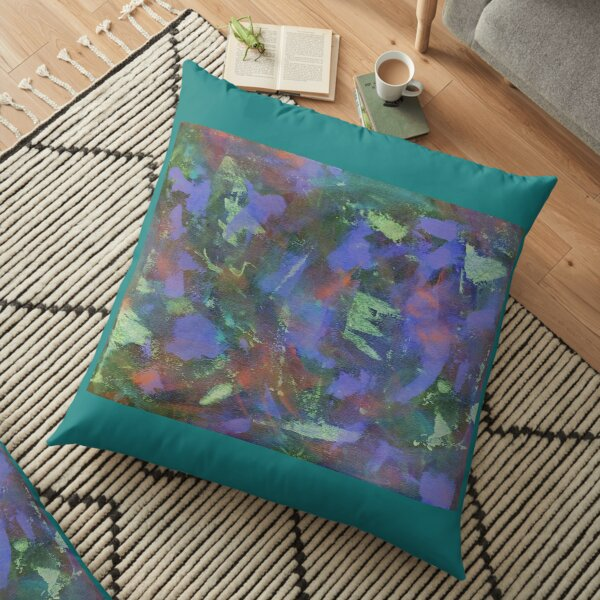 Blue Abstractions Floor Pillow