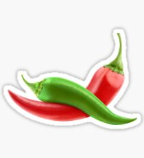 Red and green peppers Sticker