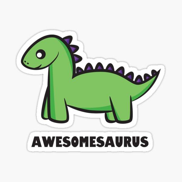 Awesomesaurus (green) Sticker